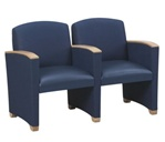 Savoy Series: 2 Seats with Center Arm - Healthcare Vinyl - G2403G4