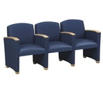 Savoy Series: 3 Seats with Center Arm - Healthcare Vinyl - G3403G4