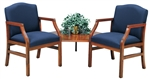 Hartford Series: 2 Chairs with Connecting Corner Table - Healthcare Vinyl - H2121G5