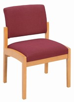 Lenox Open Arm Series: Armless Guest Chair - Healthcare Vinyl - L1102G5