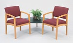 Lenox Open Arm Series: 2 Chairs with Connecting Corner Table (Melamine) - L2121G5