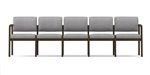 Lenox Open Arm Series: 5 Seat Sofa - Healthcare Vinyl - L5101G5