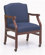 Madison Series: Guest Chair with Casters - Healthcare Vinyl - M1201C5
