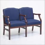 Madison Series: 2 Seats with Center Arm - Healthcare Vinyl - M2203G5