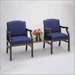 Madison Series: 2 Seats with Connecting Center Table - Healthcare Vinyl - M2211G5