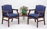 Madison Series: 2 Chairs with Connecting Corner Table - Healthcare Vinyl - M2221G5