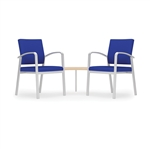 Newport Series: 2 Chairs with Connecting Corner Table - NP2421G5