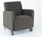 Ravenna Series: Guest Chair with Casters from Lesro