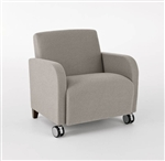 Siena Series: 500 lb. Capacity Guest Chair with Casters - Q1601C3