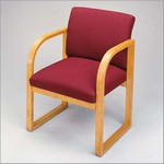 Contour Full Back Series: Sled Base Guest Chair - Healthcare Vinyl - R1401G3