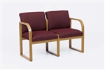 Contour Full Back Series: Sled Base 2 Seat Sofa - Healthcare Vinyl - R2401G3