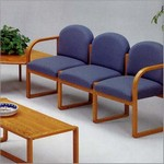 Healthcare Reception: Contour 3-Seat Round Back Sofa
