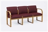 Contour Full Back Series: Sled Base 3 Seat Sofa - R3401G3