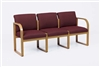 Contour Full Back Series: 3 Seat Sofa with Sled Base - Healthcare Vinyl - R3401G3