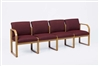 Contour Full Back Series: Sled Base 4 Seat Sofa - R4401G3