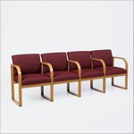Healthcare Reception: Contour 4-Seat Full Back Sofa with Center Arms