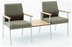 2 Chairs with Connecting Center Table from Lesro