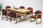 6ft Rectangular Trestle Base Conference Table
