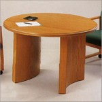 36in Round Curved Base Conference Table