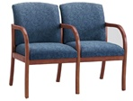 Weston Series: 2 Seats with Center Arm - Healthcare Vinyl - W2303G5