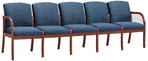 Weston Series: 5 Seat Sofa - Heathcare Vinyl - W5301G5