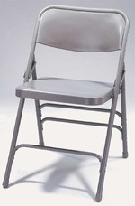 Premium All-Steel Triple-Brace, Double-Hinge Folding Chair