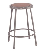 "Lab Stool with Round Hardboard Seat 18""H from National Public Seating"