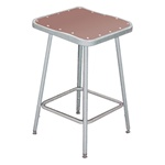 "24""H Lab Stool with Square Hardboard Seat from National Public Seating"