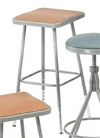 "25-33"" Ht. Adjustable Lab Stool with Square Hardboard Seat from National Public Seating"