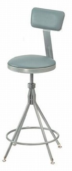 Heavy Duty Adjustable Swivel Lab Stool with Backrest, 6500 Series