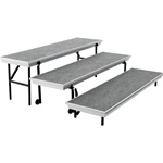 Trans-Port Straight Choral Risers - 3-Step Riser Unit from National Public Seating