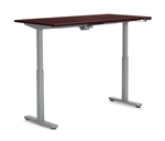 "Offices to Go: 71"" x 30"" Adjustable Height Table - OTGHA7130/OTGBASE-SIL"