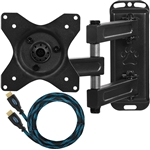 "Cheetah Mounts ALAMB Articulating Arm (15"" Extension) TV Wall Mount Bracket for 12-24"" TVs and Displays up to VESA 100 and up to 40lbs, Including a 10' Twisted Veins HDMI Cable"