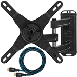 "Cheetah Mounts ALAMEB Articulating Arm (15"" Extension) TV Wall Mount Bracket for 12-37"" Displays up to VESA 200 and up to 40lbs, Includes a Twisted Veins 10' HDMI Cable"
