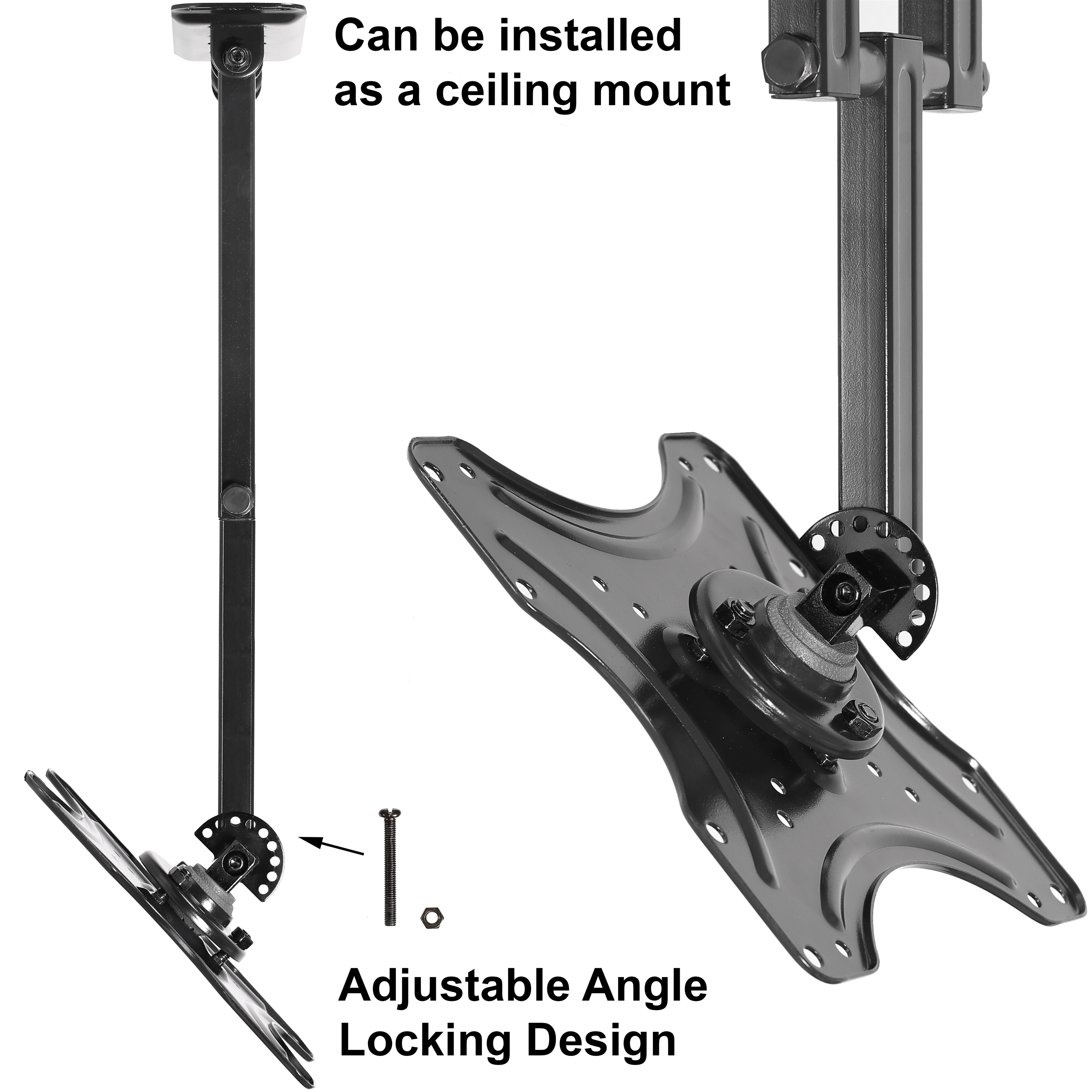 monitor displays mount for ceiling dual shop tv wall bracket to stand up