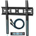 "Cheetah Mounts APFMSB TV Wall Mount Bracket for 20-55"" TVs Up To VESA 400 and 115 lbs including a Twisted Veins 10' HDMI Cable and a 6"" 3-Axis Magnetic Bubble Level"
