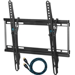 "Cheetah APTMSB TV Wall Mount for 20-55"" TVs up to VESA 400 and 115lbs, and fits 16"" Wall Studs, and Includes a Tilt TV Bracket, a 10' Twisted Veins HDMI Cable and a 6"" 3-Axis Magnetic Bubble Level"