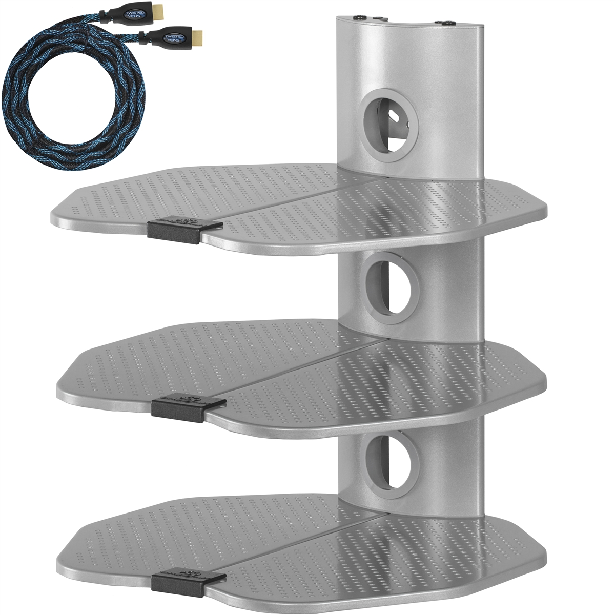Cheetah Mounts As3s 3 Shelf Tv Component Wall Mount Shelving Bracket