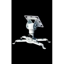 Cheetah Mounts white Universal Projector Ceiling Mount-APMFW