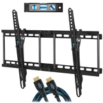 "Cheetah APTMM2B TV Wall Mount for 20-80"" TVs (some up to 90"") up to VESA 600 and 165lbs, and fits 16"" And 24"" Wall Studs, and includes a Tilt TV Bracket, a 10' Twisted Veins HDMI Cable and a 6"" 3-Axis"