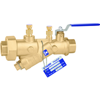 "Caleffi 121 FlowCal™ 1 ¼"" sweat (with PT test ports) automatic flow balancing valve with integral ball valve. 121379A"