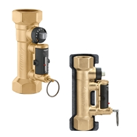 "CALEFFI LOW-LEAD 3/4"" PRESS BALANCING VALVE WITH FLOW METER."