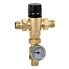 "Caleffi ½"" NPT male MixCal NPT with inlet check valve and thermometer 521410AC"