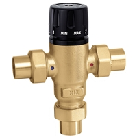 "Caleffi ¾"" sweat MixCal Sweat with inlet check valves 521509AC"