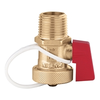 "538402 FD 1/2"" NPT male x 3/4"" garden hose Boiler drain valve.