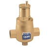 "Caleffi 2"" sweat Discal Sweat Air Separator with ½"" service check valve 551054AC"