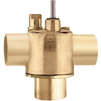 Caleffi, inverted flare, Three-way on/off two position valve. Z300042