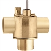 Caleffi, inverted flare, Three-way on/off two position valve. Z300043