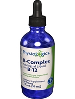 B-Complex Sublingual Liquid with B12 / Physiologics / 2oz. (B Complex)