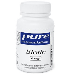 Biotin 8 mg / Pure Encapsulations / 60 caps